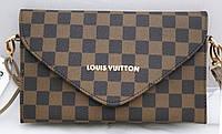 Женская сумка-клатч Louis Vuitton, коричневая в клетку Луи Виттон