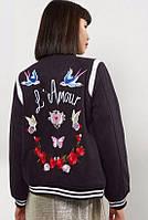 Женская куртка бомбер Newlook с вышивкой на спине в наличии  S М