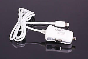 Miracase USB car charger for Apple with Lightning connector (1м), white (MACC811) Miracase