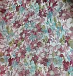 "Тюль под лен (кисея) ""Хризантемы"", цвет № 1, фото 3"