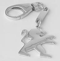 """Брелок """"Пежо""""  из родированного серебра 925 пробы"""