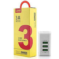 LDNIO Home charger 3 USB (3.4A), DL-A3303