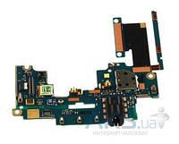 Шлейф для HTC One M7 801e c разъемом гарнитуры, кнопками громкости Original