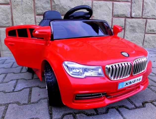 Детский электромобиль BMW B4 красный + Пластик или EVA колеса + Пластик или Кожа сидение