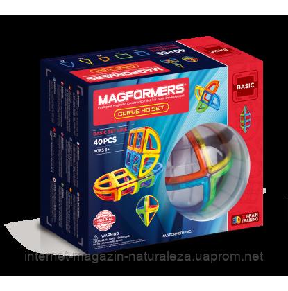 Магнитный конструктор ТМ Magformers Базовый набор Дуга 40 элементов