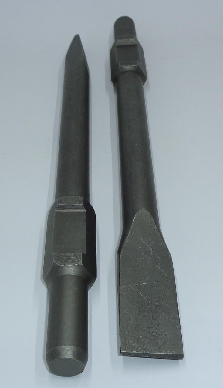 Зубило для отбойных молотков Плоское шестигранное Ø30 мм