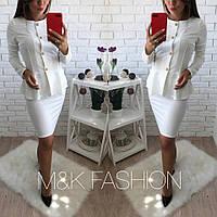 Женский красивый костюм: пиджак и юбка (4 цвета)
