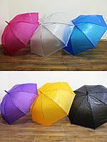 Зонт E-12809 6 видов клеенка с теснением