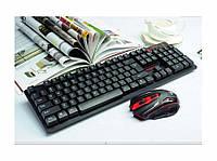 Беспроводная игровая клавиатура и мышка в комплекте., фото 1
