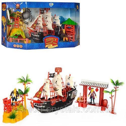 Корабль пиратов и фигурки