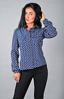 Женская стильная  рубашка из однотонного софта нежных тонов, фото 1