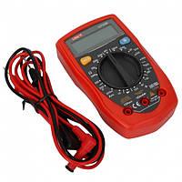 Универсальный тестер ut33b, мультиметр цифровой, индикация перегрузки, подсветка экрана, питание – батарея 9в