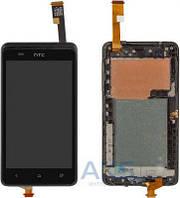 Дисплей (экран) для телефона HTC Desire 400 Dual Sim, One SU T528w Dual Sim + Touchscreen with frame Original Black