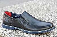 Туфли классические натуральная кожа черные без шнурков, на резинке 2017. Лови момент