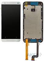 Дисплей (экран) для телефона HTC Desire 601 315n + Touchscreen with frame Original White