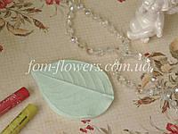Молд лист розы реалистичный М, фото 1