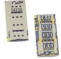 (Коннектор) Aksline Разъем SIM-карты Sony E6533 / E6683 Xperia Z3+ DS