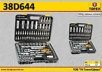Набор сменных головок с 2 трещотками 108 шт,  TOPEX  38D644