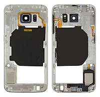Средняя часть корпуса Samsung G920F Galaxy S6 White