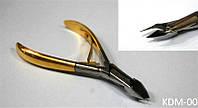 Кусачки для маникюра с золотой ручкой KDM-00