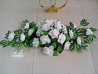"""Свадебная композиция из цветов для авто """"Белая роза"""""""