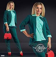 Женский стильный костюм для офиса - 16861
