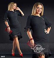 Черное коктейльное платье - 16848