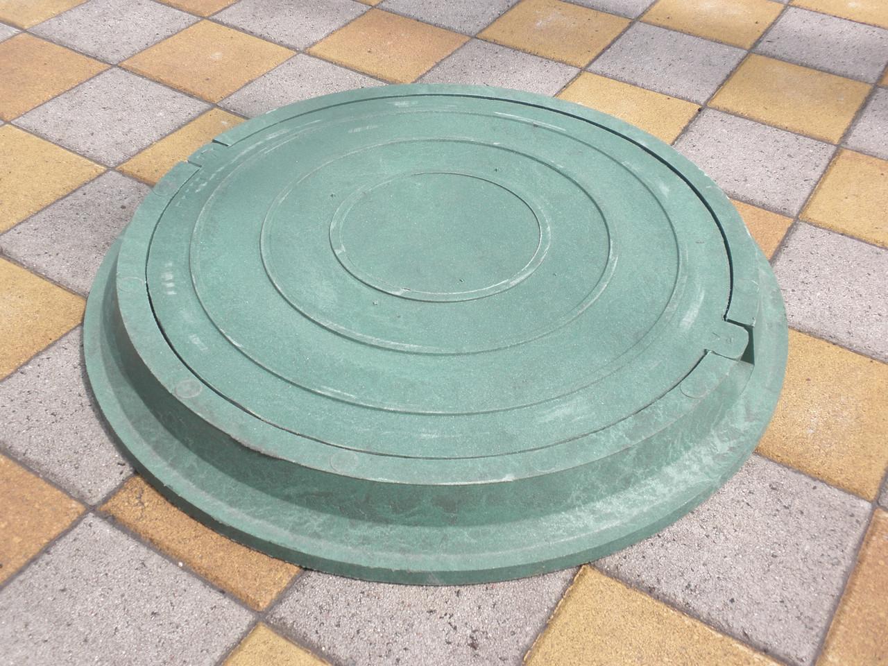 Люки канализационные полимерпесчаные легкие зеленые (до 3т)