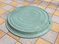 Люки канализационные полимерпесчаные легкие зеленые (до 3т), фото 1