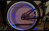 Шнурки светящиеся + светящийся блок синие