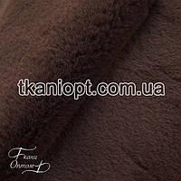 Ткань  Мех искусственный кролика длинношерстный (коричневый)