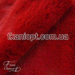 Ткань  Мех искусственный кролика длинношерстный (красный)