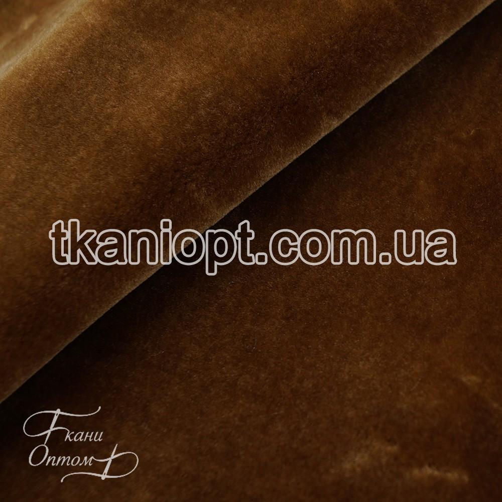 Ткань  Мех искусственный мутон (бронза)