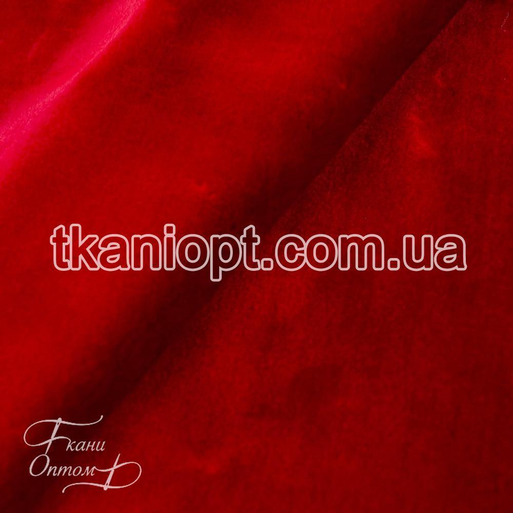 Ткань  Мех искусственный мутон (красный)
