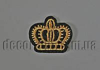 Термонаклейка вышивка Корона 3,0 см S2302