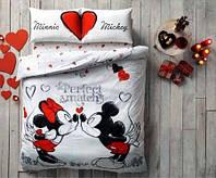 Постельное белье TAC DISNEY Minnie & Mickey Perfect Math евро