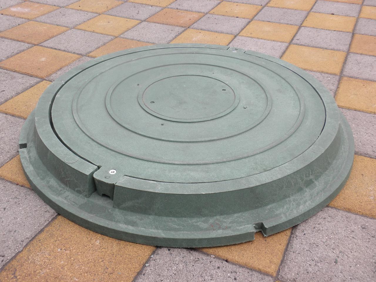 Канализационные люки полимерпесчаные легкие зеленые с замком (до 3т)