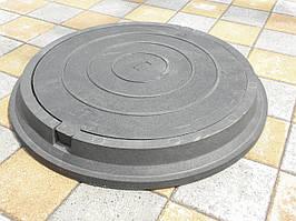 Люк канализационный полимерпесчаный средний черный