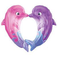 Шар фольга Влюбленные Дельфины (фигура) 3207-1014