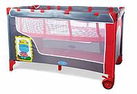 Детская манеж-кровать BT-016-SLC Red