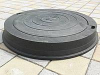 Люк смотрового колодца тяжелый черный (до 25т)