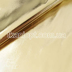Ткань Стрейчевый кожзам блестящий (золото)