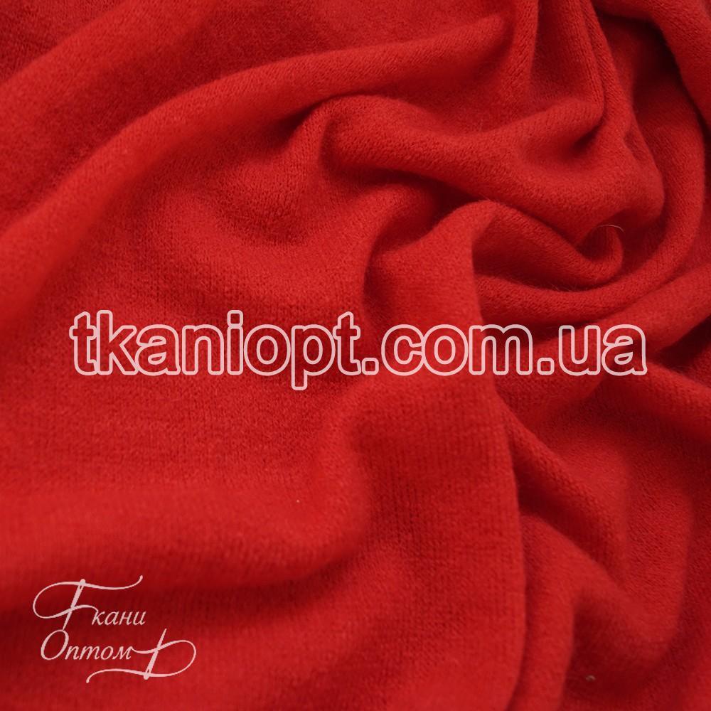 Ткань Трикотаж ангора арктика (красный)