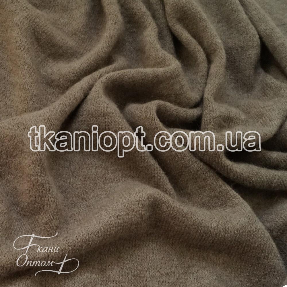 Ткань Трикотаж ангора арктика (серо-бежевый)