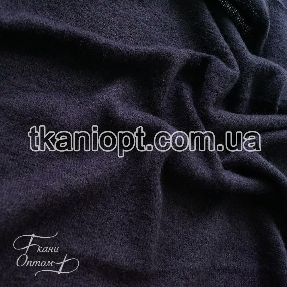 Ткань Трикотаж ангора арктика (темно-синий)