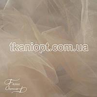 Ткань Фатин crystal трехметровый (крем с розовинкой)