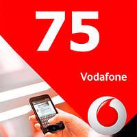 Стартовый пакет Vodafone 75 выгодный 3G интернет безлимитные звонки в сети 100 минут на других операторов
