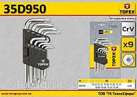 Набор ключей TS10-TS50 пятигранных коротких 9шт., TOPEX 35D950