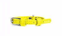 Ошейник COLLAR GLAMOUR без украшений, ширина 9мм, длина 19-25см желтый 32018