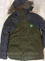 Зимняя подростковая куртка для мальчика,рост 140-164см